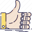 finger, hand, like, share, success, thumb, up icon