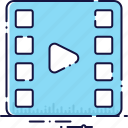 clip, film, filmstrip, media, movie, play, video icon