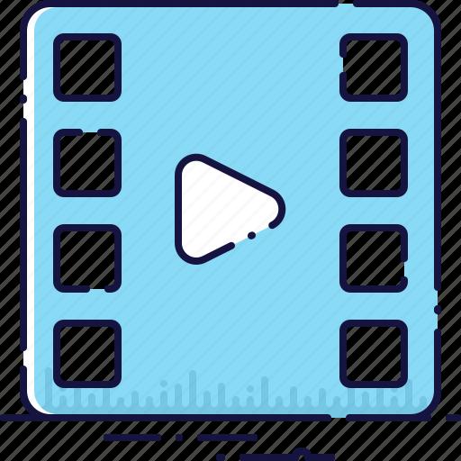 clip, film, filmstrip, media, movie, play, video icon