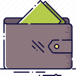 business, cash, deposit, money, payment, saving, wallet icon