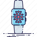 clock, device, display, time, touch, watch, wristwatch icon