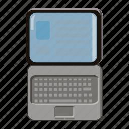 cartoon, data, finance, monitor, office, screen, technology icon