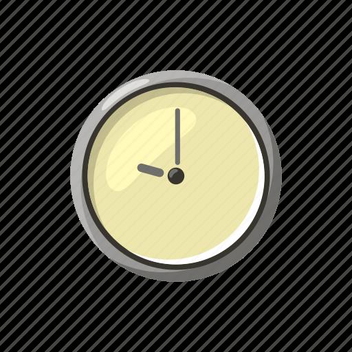 cartoon, circle, clock, pointer, round, time, watch icon
