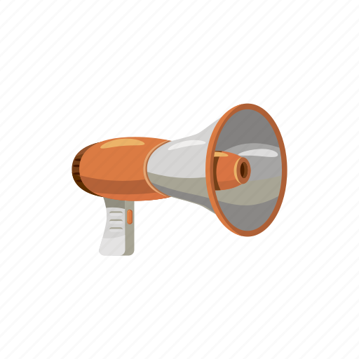 advertising, announcement, business, cartoon, megaphone, message, speaker icon