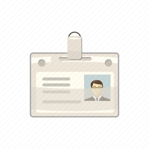 badge, cartoon, contact, identity, male, message, name icon