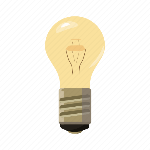 bulb, cartoon, electricity, energy, idea, light, lightbulb icon