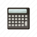 business, calculator, cartoon, display, electronic, math, mathematics icon