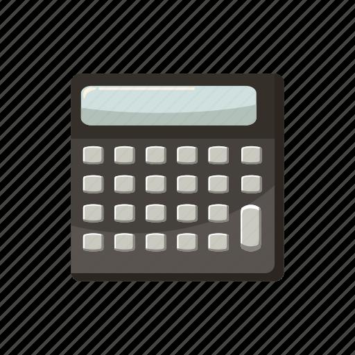 business, calculator, cartoon, display, electronic, math, mathematics icon