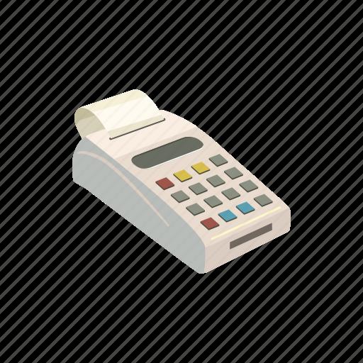 bank, card, cartoon, credit, payment, terminal, transaction icon