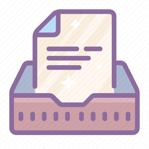 archive, box, inbox, incoming, mail, office, paper icon
