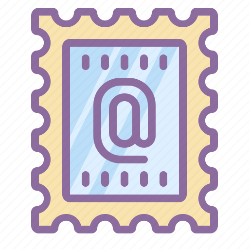 address, mail, message, postmark, stamp icon