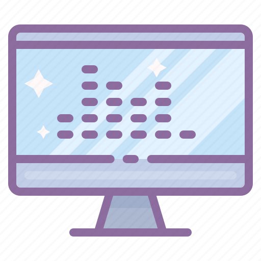 chart, computer, display, equalizer, graph icon