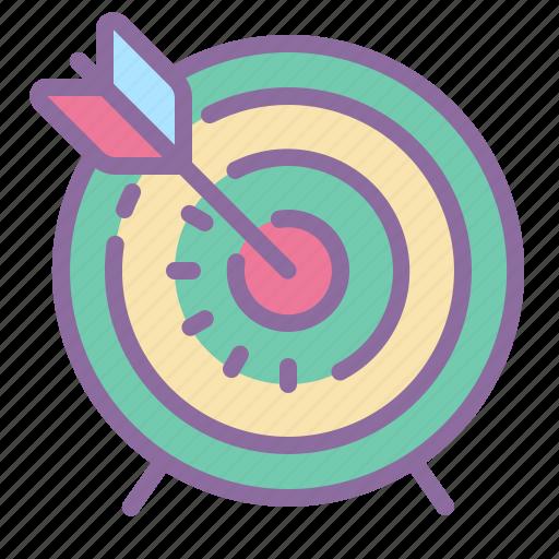 aim, arrow, bow, circle, office icon