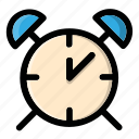 alarm, bell, clock, notification, time
