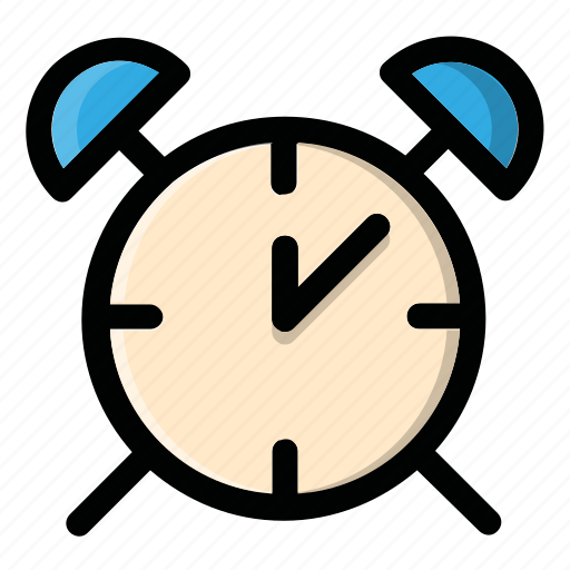 alarm, bell, clock, notification, time icon
