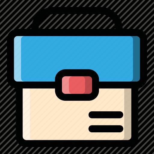 bag, case, document, holder, suit case icon