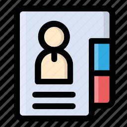 document, file, folder, info, profile icon