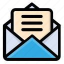 email, letter, mail, message, post, text icon