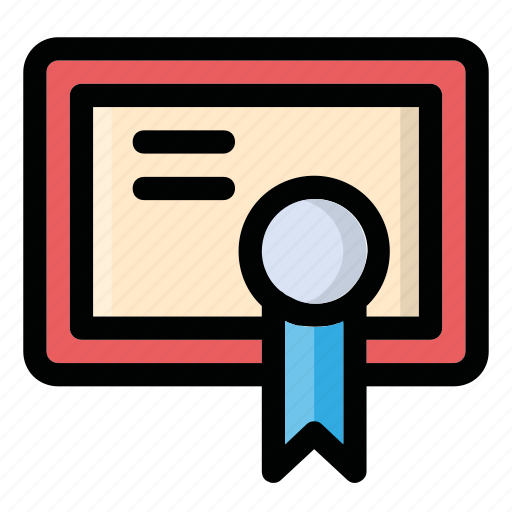 diploma, document, illustration, image, picture icon