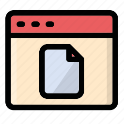 document, file, page, tab, window icon
