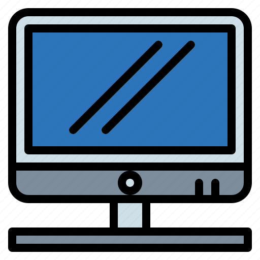 computer, monitor, screen, technology, television, tv icon