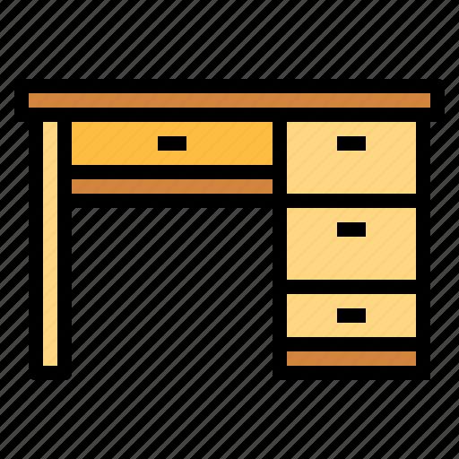 antique, desk, elegant, furniture, workplace icon