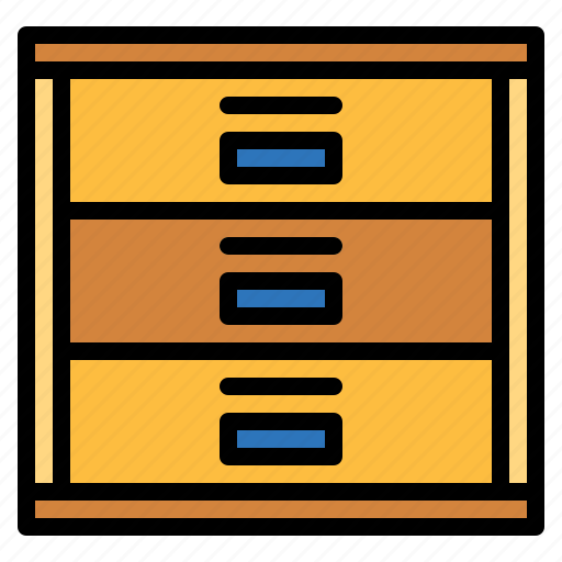 business, cabinet, drawer, furniture, office icon