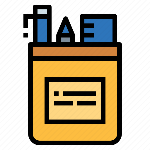 case, edit, education, office, pencil, school, writing icon