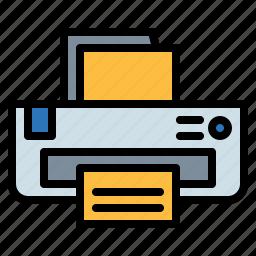and, ink, paper, print, printer, printing, tools icon