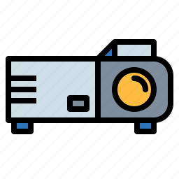 electronics, image, picture, projector, technology, video icon
