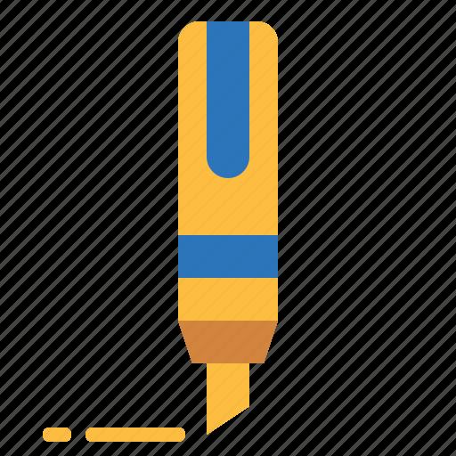 draw, education, highlighter, marker, permanent, underline icon