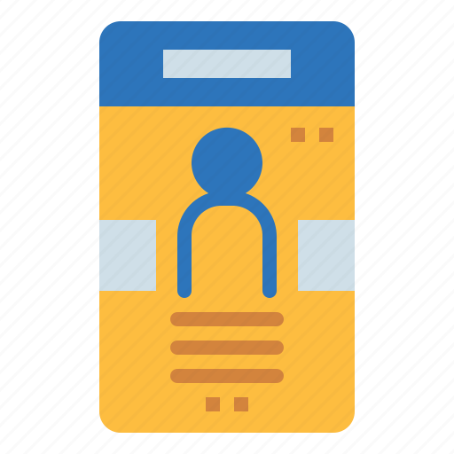 business, card, id, identification, identity, pass icon