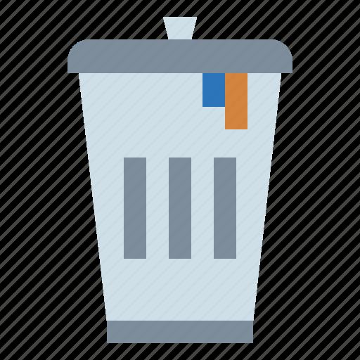 bin, can, delete, remove, rubbish, trash icon