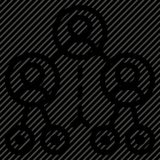 circles, media, network, networking, social icon