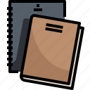 address, agenda, book, bookmark, business, education, notebook icon