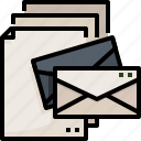 communications, email, envelope, interface, mail, message, messages