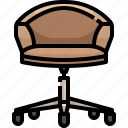 chair, comfort, comfortable, furniture, household, office, sitting icon