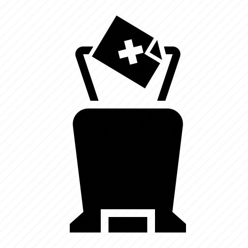 bin, equipment, office, recycle, waste icon