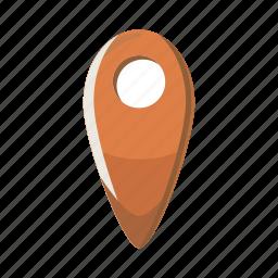 cartoon, location, map, marker, navigation, pointer, travel icon