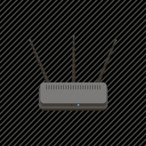 cartoon, internet, modem, network, router, wifi, wireless icon