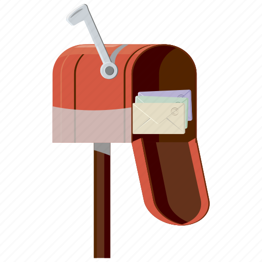 cartoon, email, envelope, letter, mail, mailbox, post icon