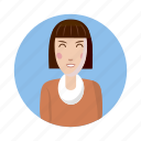avatar, cartoon, human, picture, profile, user, woman icon
