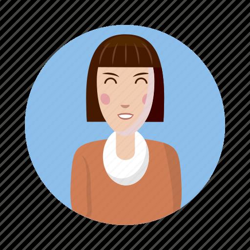 avatar, cartoon, human, picture, profile, user, woman icon