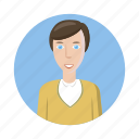 avatar, cartoon, human, man, picture, profile, shirt icon
