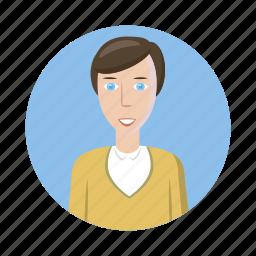 avatar, cartoon, human, man, picture, profile, shirt icon