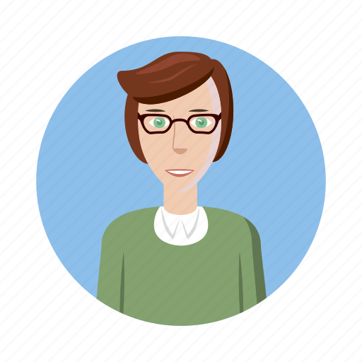 avatar, cartoon, glasses, human, man, picture, profile icon