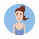 avatar, cartoon, consultant, girl, identity, picture, profile icon