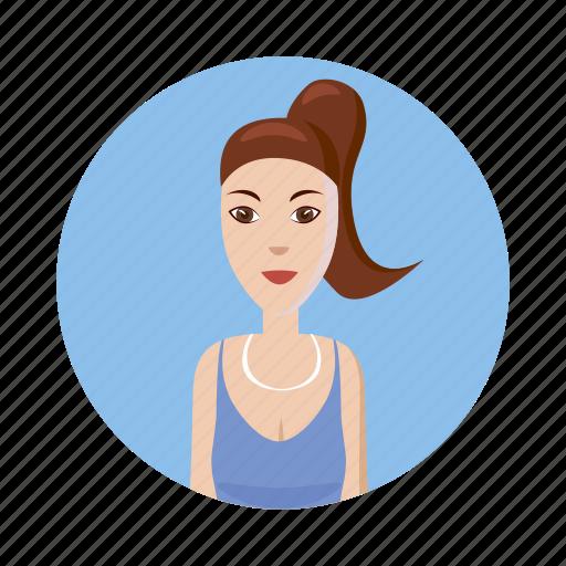 avatar, cartoon, consultant, girl, identity, picture, profile icon