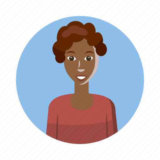 african, avatar, cartoon, human, picture, profile, woman icon