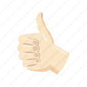 cartoon, good, media, network, social, thumb, up icon